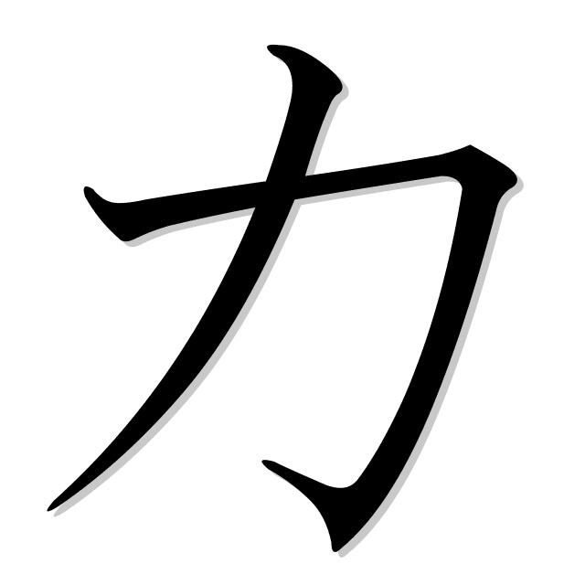 poder en japonés es 力 (chikara)