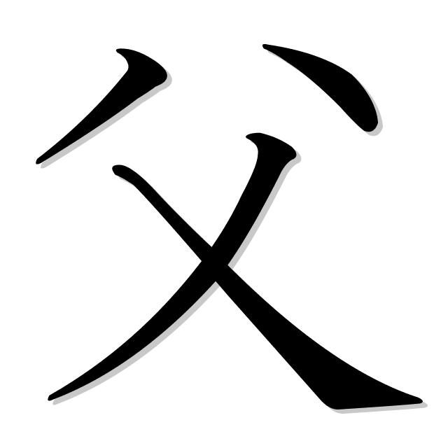 papá en japonés es 父 (chichi)