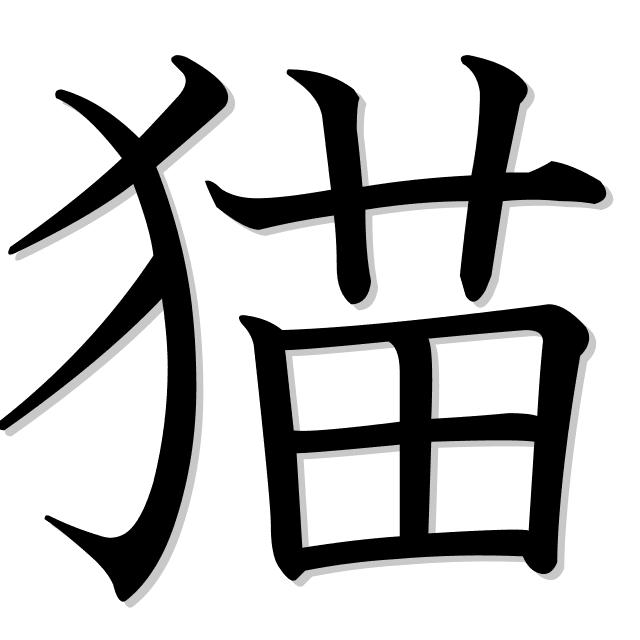 gato en japonés es 猫 (neko)
